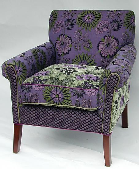 Salon Chair in Jangala Purple - Upholstered Chair - by Mary Lynn O'Shea