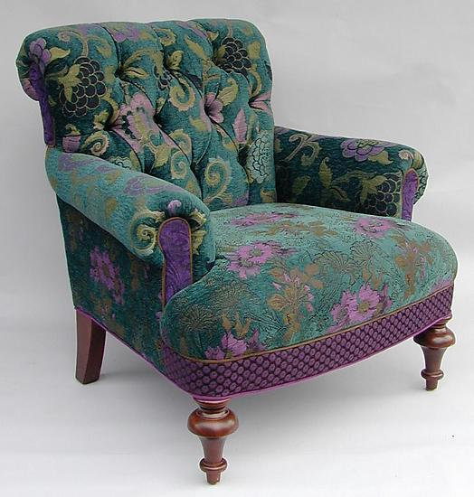 Middlebury Chair: Bohemian - Upholstered Chair - by Mary Lynn O'Shea