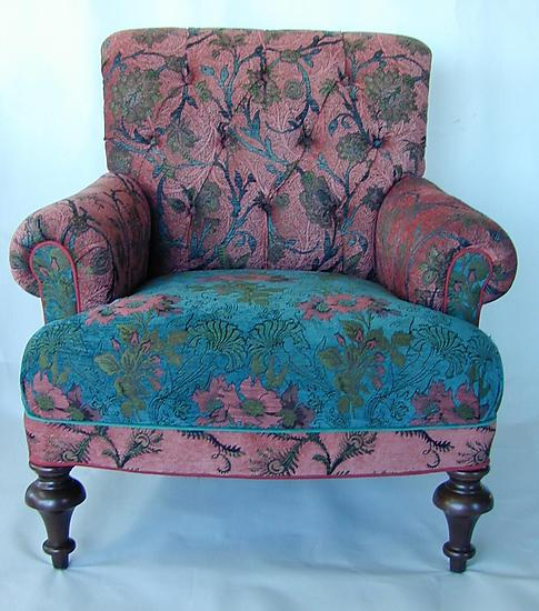 Middlebury Chair in Zinnia - Upholstered Chair - by Mary Lynn O'Shea