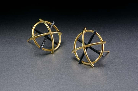 Dome Earrings - Silver & Bimetal Earrings - by Ben Neubauer