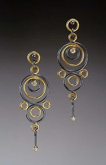 Hyppolyta Earrings - Gold, Silver, & Stone Earrings - by Ben Neubauer