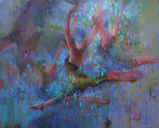 Terpsichore - Oil Painting - by Cathy Locke
