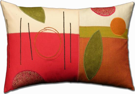 Fall Favorite - Fiber Pillow - by Susan Hill