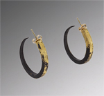 Gold & Iron Earrings by Pat Flynn