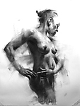 Charcoal Drawing by Cathy Locke