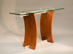 Wood Hall Table by Nathan Hunter