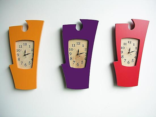 Simon Say's - Vibrant Colors - Wood Clock - by Vincent Leman