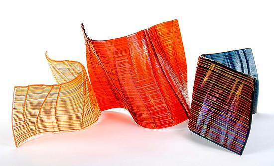 Autumn Flow #7 - Art Glass Sculpture - by Nina Falk
