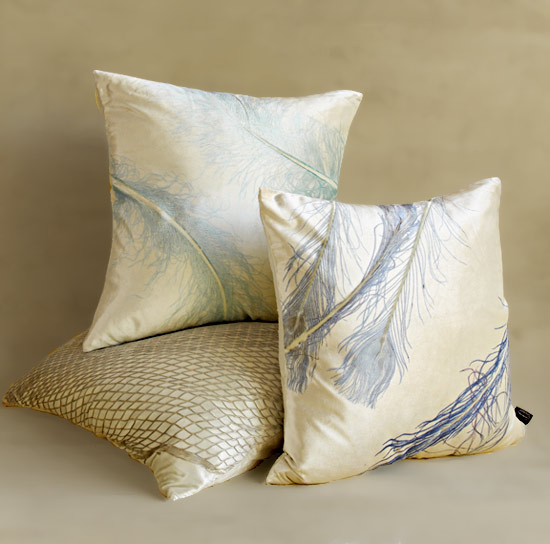 Ivoire Collection - Etched Velvet Pillow - by Aviva Stanoff