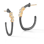 Gold, Silver & Stone Earrings by Dana Melnick