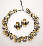Gold, Silver, & Pearl necklace by So Young Park