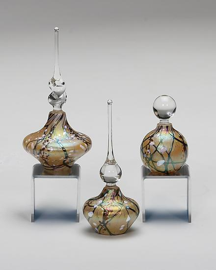 Cherry Blossom Perfume Bottles: Aspen - Art Glass Perfume Bottle - by Bryce Dimitruk