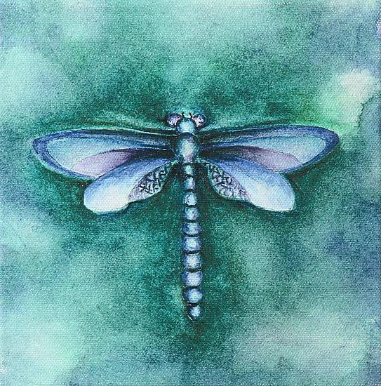 Ocean Dragonfly - Giclee Print - by Rachel Tribble