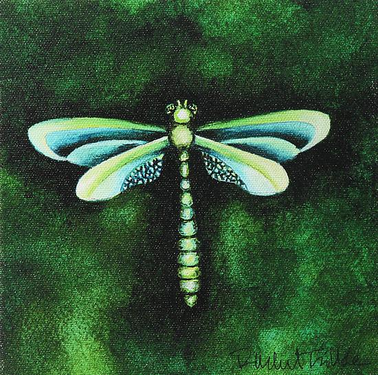 Sea Grass Dragonfly - Giclee Print - by Rachel Tribble