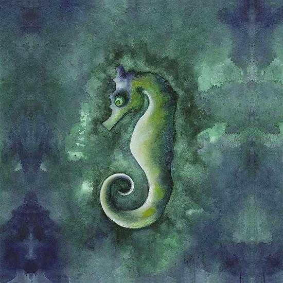 Sea Horse - Giclee Print - by Rachel Tribble