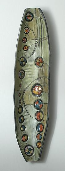 Abstract Time Wall Pod - Ceramic Wall Art - by Janine Sopp