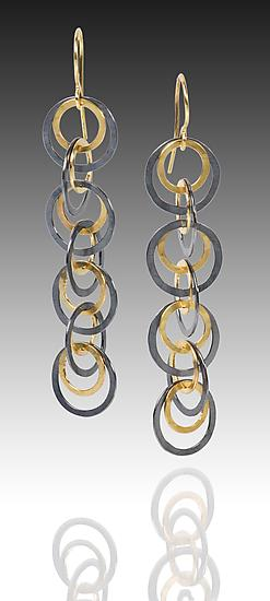 Shadow Earrings - Gold & Silver Earrings - by Heather Guidero