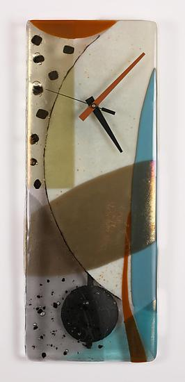 Ascension - Art Glass Pendulum Clock - by Nina Cambron