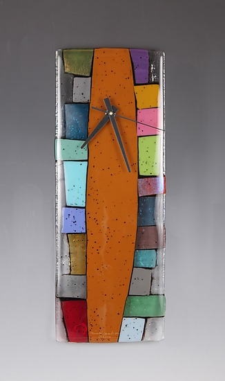 Totem - Art Glass Clock - by Nina Cambron