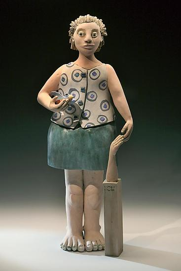 Fly Now Now Fly - Ceramic Sculpture - by Marilee Hall