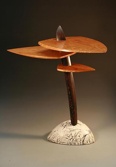Stoneflower - Wood Console Table - by Derek Secor Davis