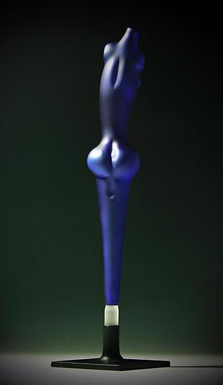 Blue Goddess - Art Glass Sculpture - by Brayton Furlong