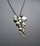 Gold, Silver, & Pearl Necklace by Susan Chin