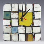 Art Glass Clock by Nina  Cambron