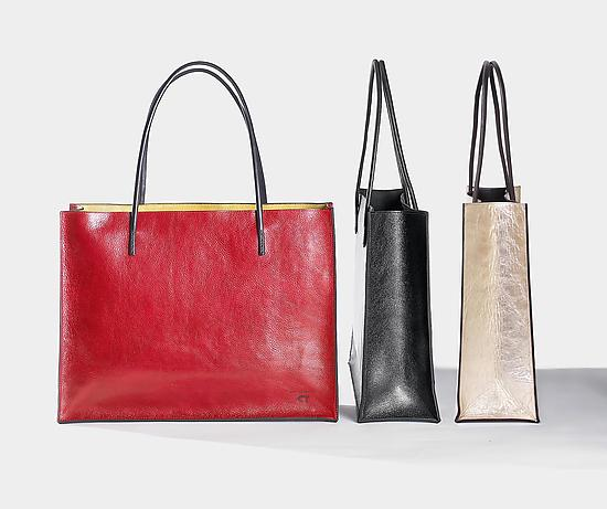 Yoshi Bag - Leather Tote - by Jutta Neumann