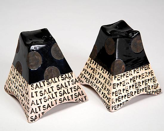 Salt and Pepper Shakers - Ceramic Salt and Pepper Shakers - by Connie Norman