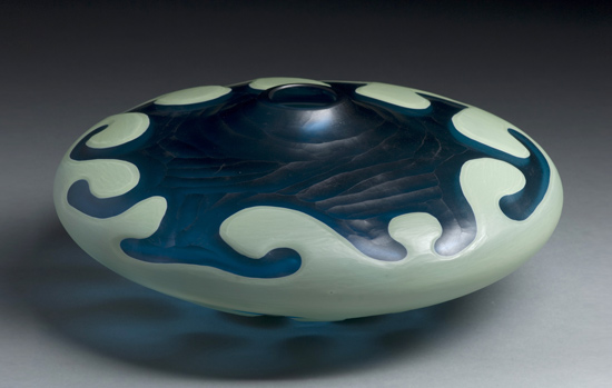 Flow Low - Art Glass Vessel - by Michael Ulschak
