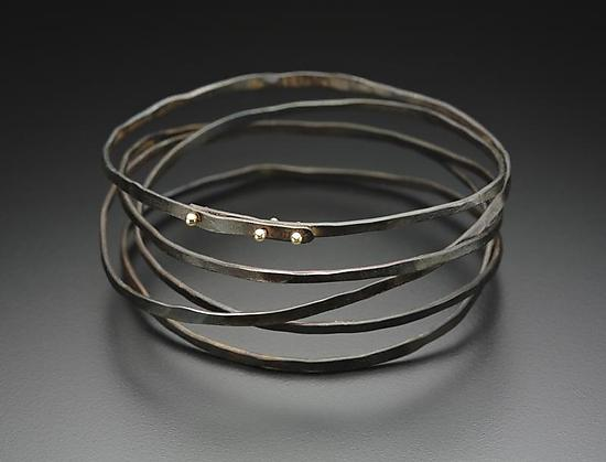 Wrap Bracelet - Gold & Steel Bracelet - by Peg Fetter