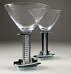 Art Glass Goblets by George Ponzini