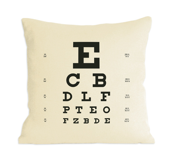 Eye Chart Pillow - Fiber Pillow - by Heather Lins