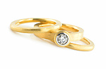 Gold & Diamond Ring Set by Catherine Iskiw