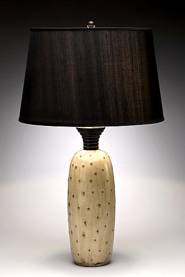 Ostrich Skin Lamp - Wood Table Lamp - by Kipley Meyer