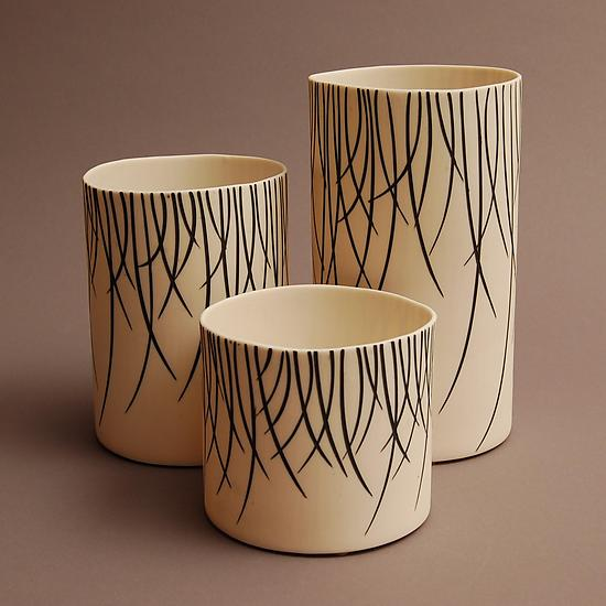 Willow Luminaries-White - Ceramic Candleholders - by Tabbatha Henry