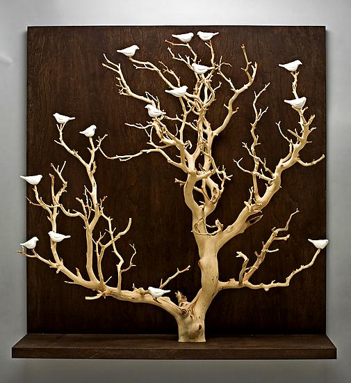 Birds In Trees Large By Chris Stiles Ceramic Wood