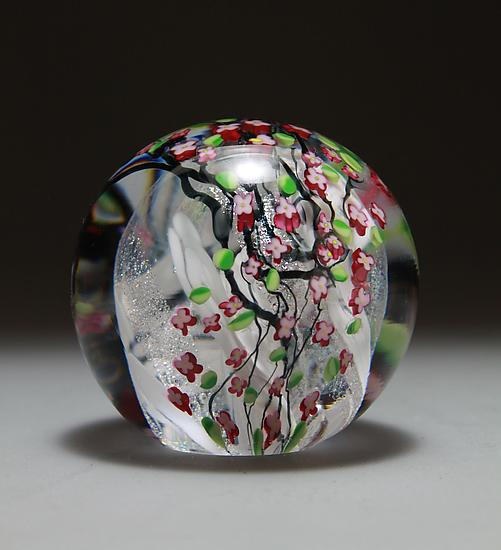 Cherry Blossom Paperweight - Art Glass Paperweight - by Shawn Messenger