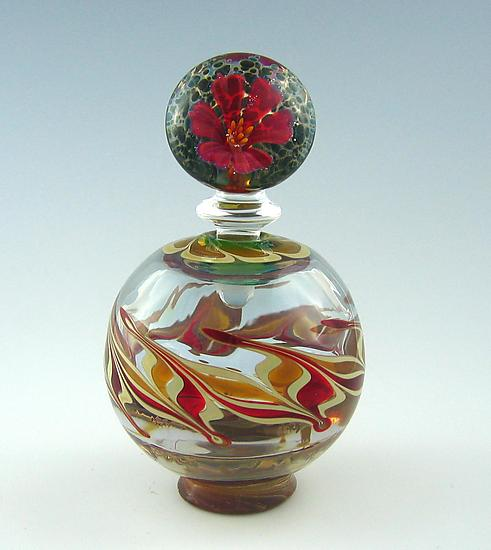 Whimsy Perfume Bottle - Art Glass Perfume Bottle - by Chris Pantos