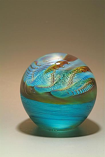 Pearl Paperweight - Art Glass Paperweight - by Robert Burch