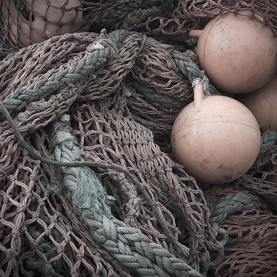 Fishing Net #1 - Color Photograph - by Steven Keller