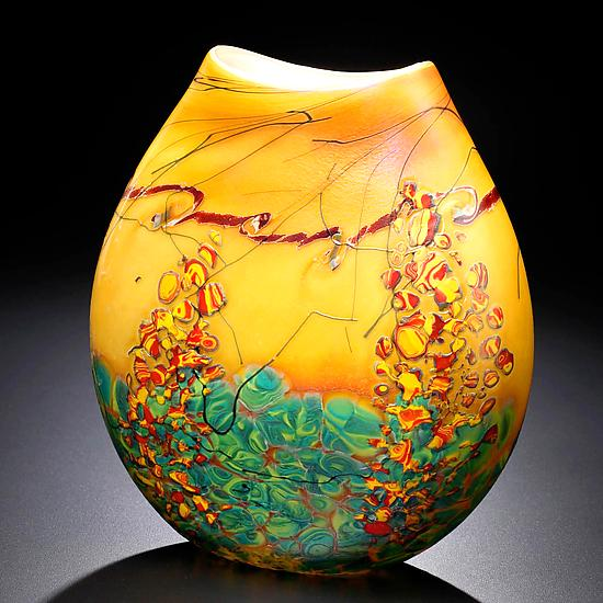 Sedona Vase - Art Glass Vase - by John & Heather Fields