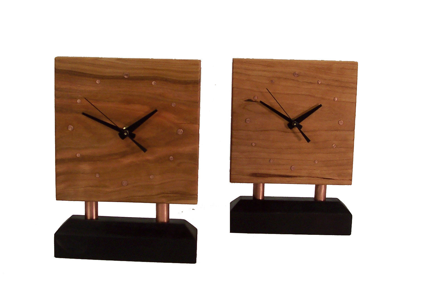 Tacks-1 Clock in Cherry - Wood Clock - by Desmond Suarez