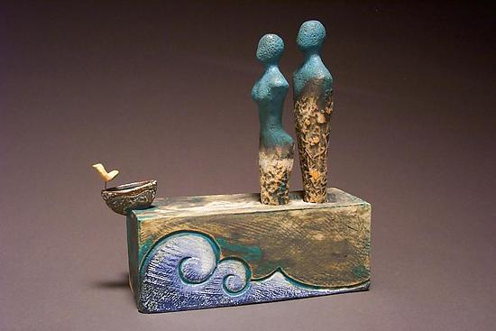 There are Strengths in Our Differences - Ceramic Sculpture - by Cathy Broski