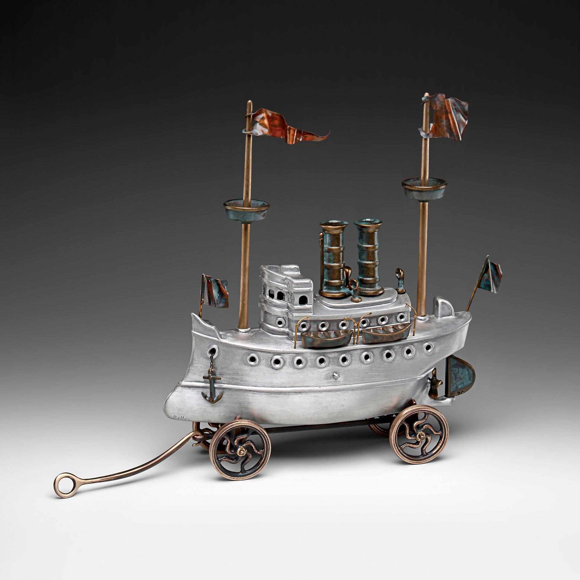 Steam Yacht - Metal Sculpture - by Scott Nelles