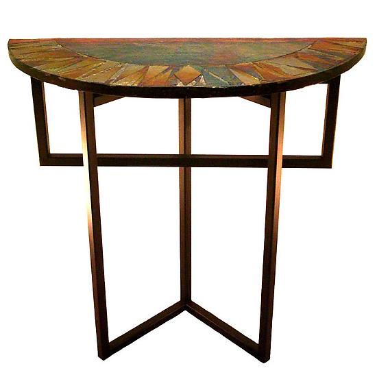 Radiance Foyer Table - Glass Console Table - by Joel and Candace Bless