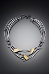 Silver & Bimetal Necklace by Lori Gottlieb