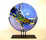 Art Glass Platter by Karen Ehart