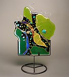 Art Glass Clock by Karen Ehart